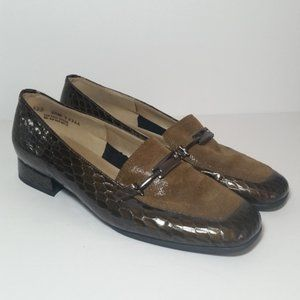Magdesians Faux Alligator Skin Loafers 6.5 M